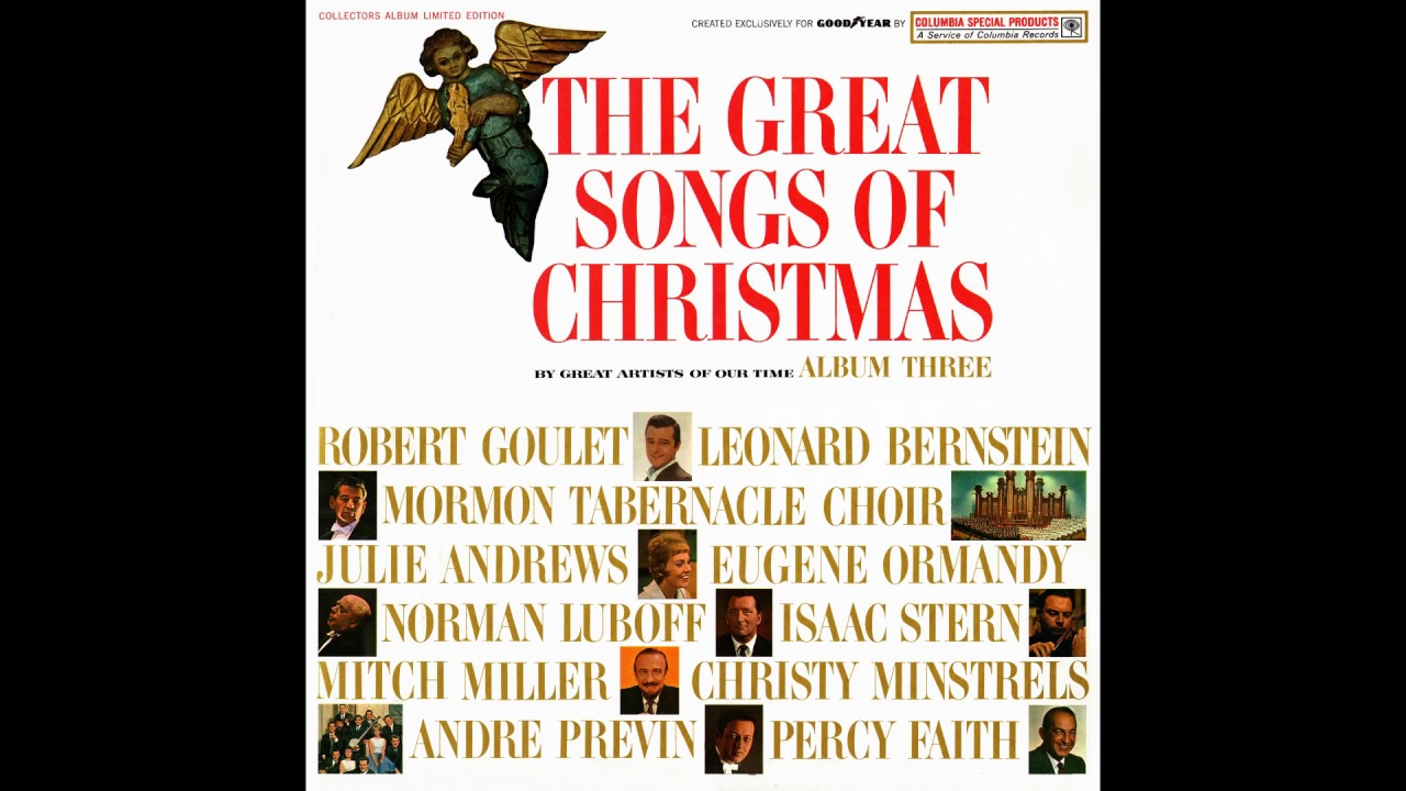 the great songs of christmas album three goodyear 1963 youtube