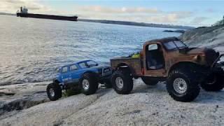 Traxxas Trx-4 91 Toyota 4runner Wheeling in Rocky Creek