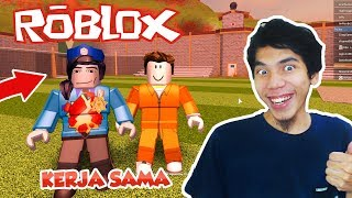 MALING AND WKWK-ROBLOX COOPERATION POLICE JAILBREAK #4