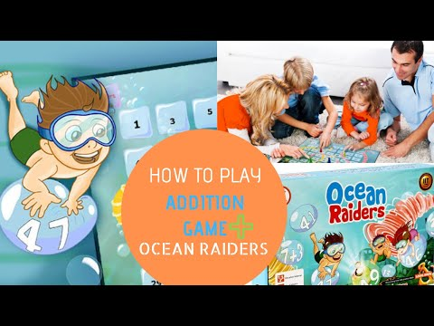 How to play Ocean Raiders Addition Math Game for kids