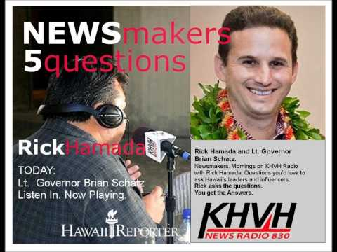 Five Questions with NEWSmaker Lt. Governor Brian Schatz