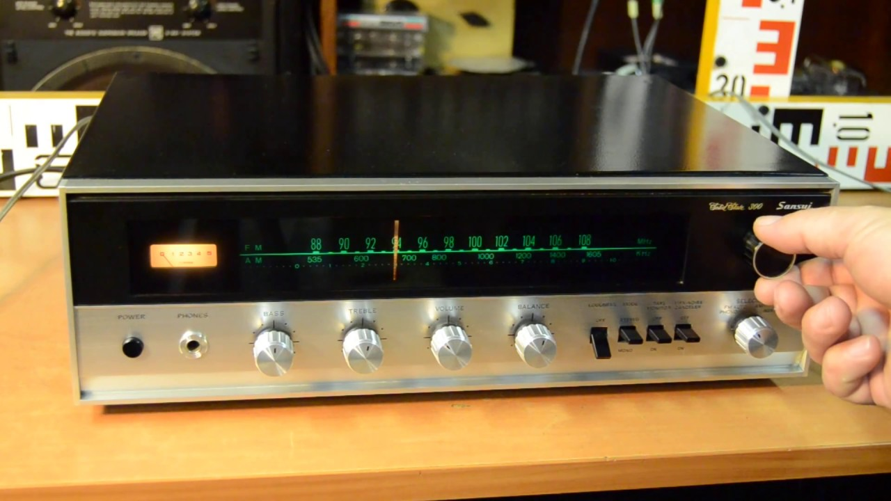 Sansui Solid State 300 AM FM Stereo Tuner Amplifier Receiver Vintage Top  HiFi Audio