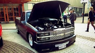 ANTI-LAG V8!! Twin Turbo Chevrolet Pickup! BURNOUTS and FLAMES!!
