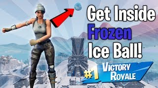 HOW TO GET *INSIDE ICE BALL* IN FORTNITE SEASON 7 GLITCH FREE WINS