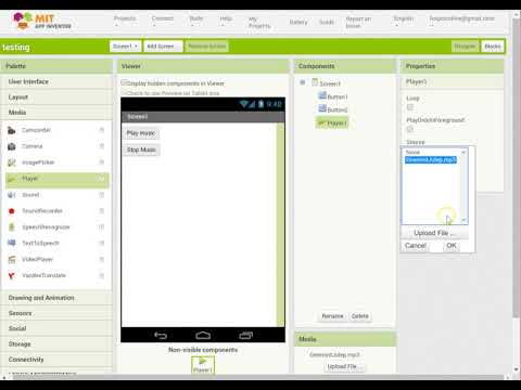 Appinventor Play Music File Through The App