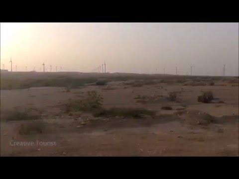 Jhimpir Wind Power Plant View from Train - Thatta District, Sindh