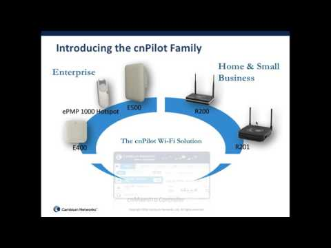 cnPilot Affordable Enterprise WiFi webinar