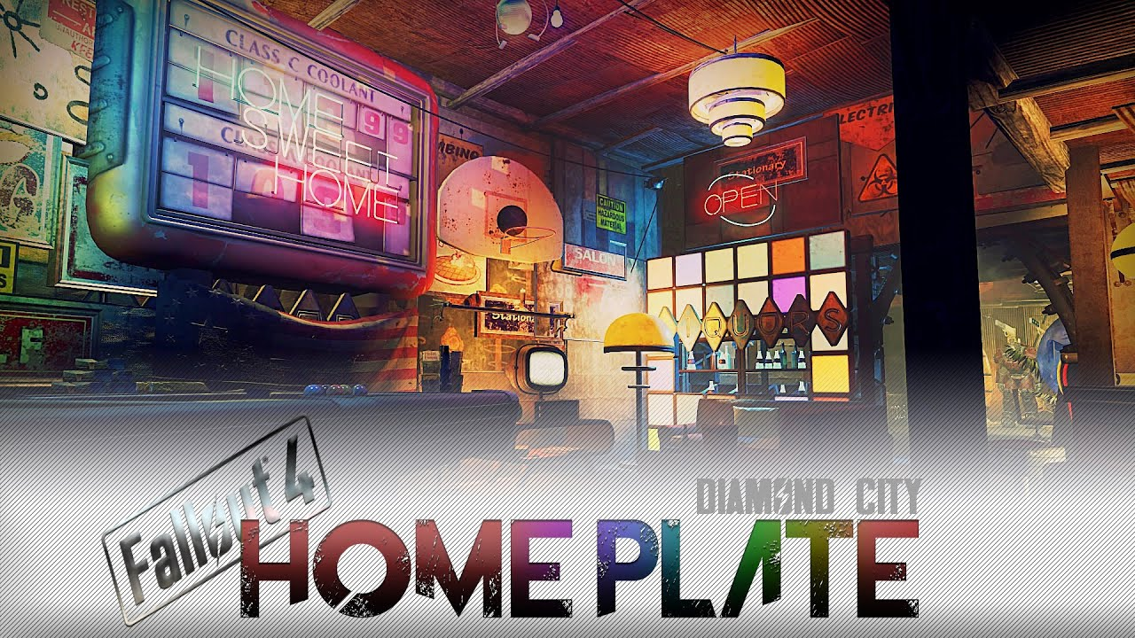 Fallout 4 Home Designs Part - 44: Fallout 4 - Home Plate Tour (NO MODS) - YouTube