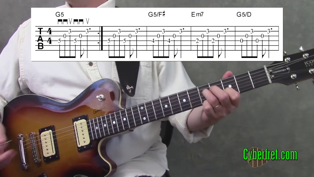 Wake Me Up When September Ends Main Chord Riff Lesson Youtube