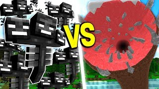 100 MINECRAFT WITHERS vs THE UNKILLABLE MINECRAFT BOSS!!