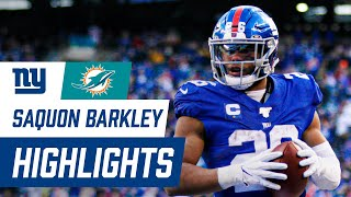 Saquon Barkley Highlights from Big Win over Miami | Giants vs. Dolphins Week 15