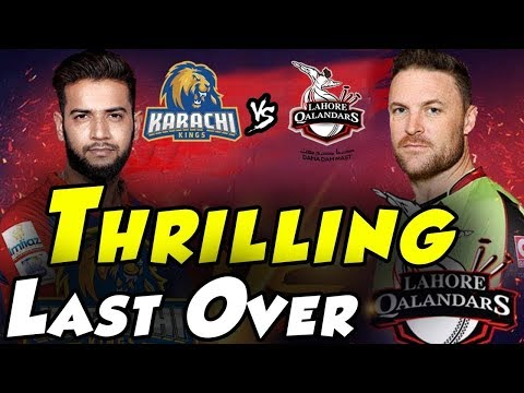Thrilling last Over Changed Into Super Over   Karachi Kings Vs Lahore Qalandars   HBL PSL 2018 thumbnail