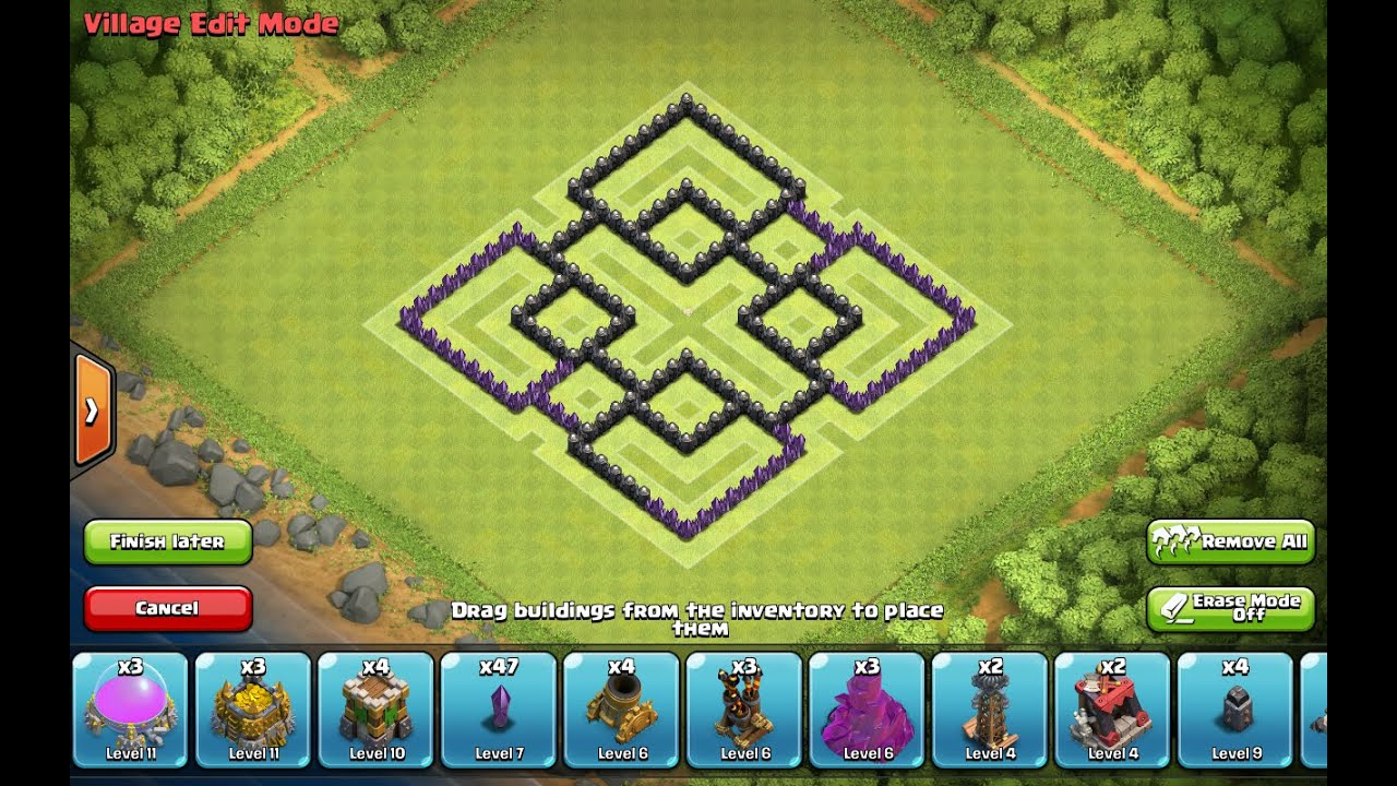 Coc th7 farming base 2015 youtube