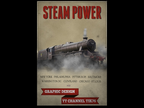 Photoshop Poster Tutorial How to Create Vintage Steam Locomotive Poster in Photoshop CS6