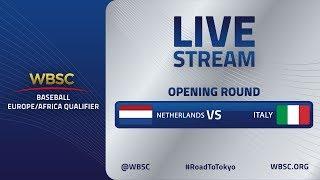 Netherlands v Italy - Baseball Europe/Africa Olympic Qualifier