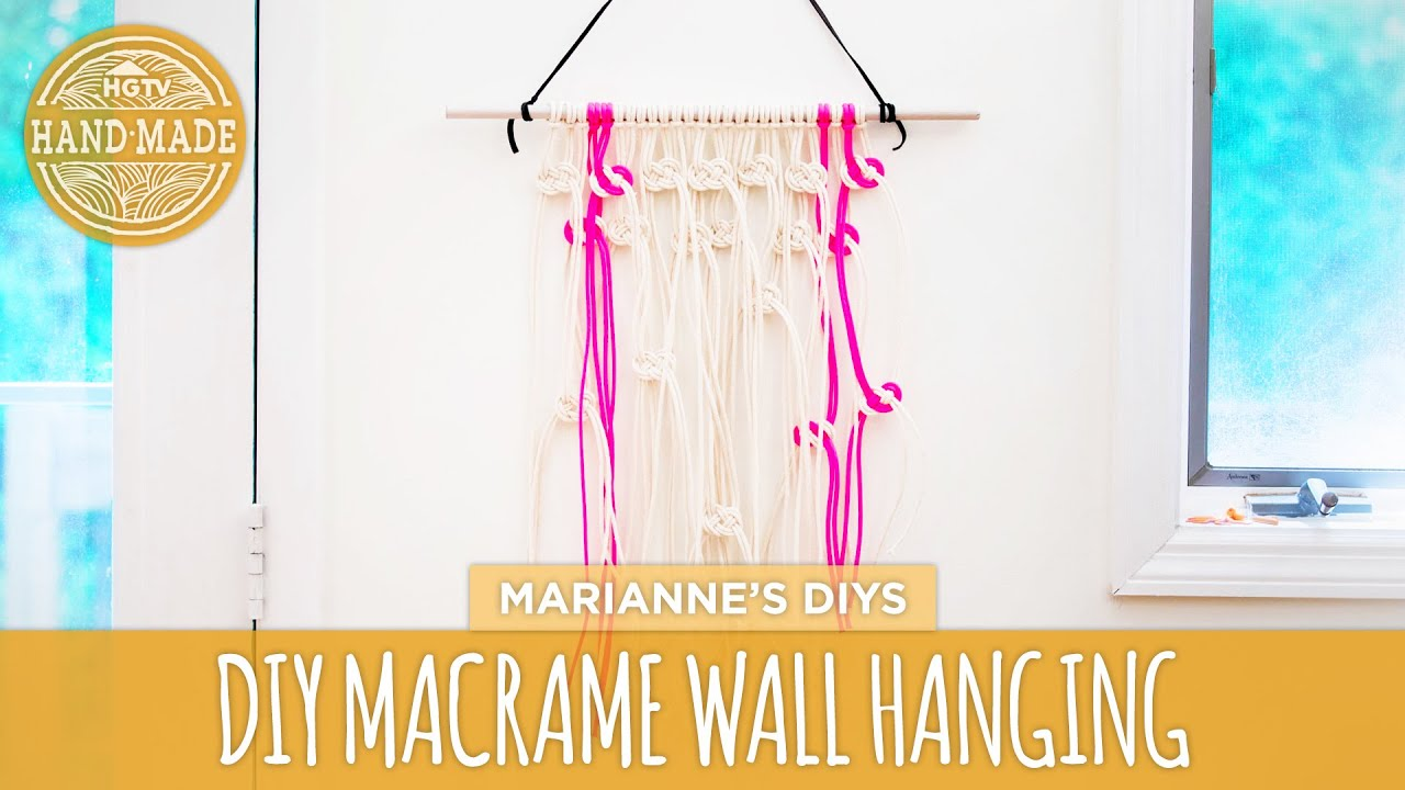 How To Make A Macrame Wall Hanging diy macrame wall hanging - skill swap - hgtv handmade - youtube