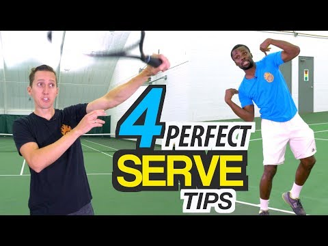 4 Tips for PERFECT Serve Technique - tennis lesson