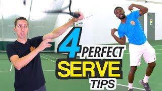 4 Tips for PERFECT Serve Technique - tennis lesson
