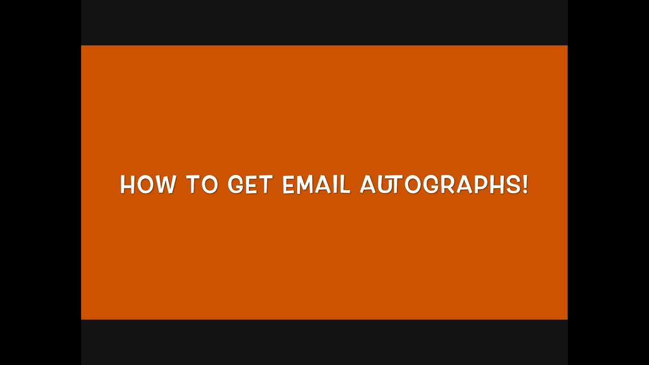 pics How to Get Autographs