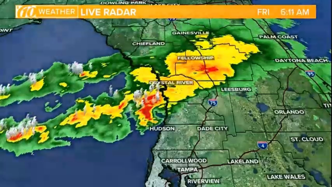 Showers, storms forecast through Friday afternoon - YouTube