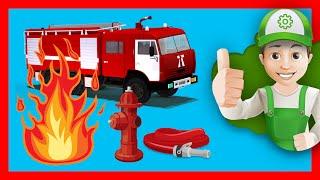 Машинки пожарная машина. Мультики про пожарных Винтик спешит на помощь.