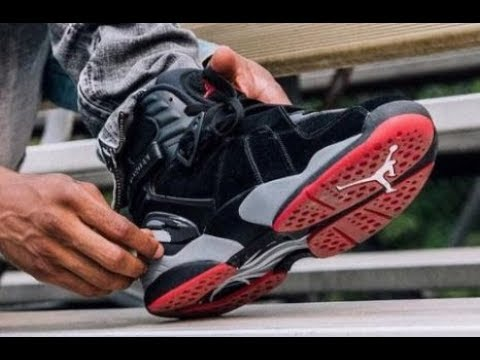 ced0e18c81f177 Air Jordan 8 Bred Retro Sneaker Honest Review - YouTube