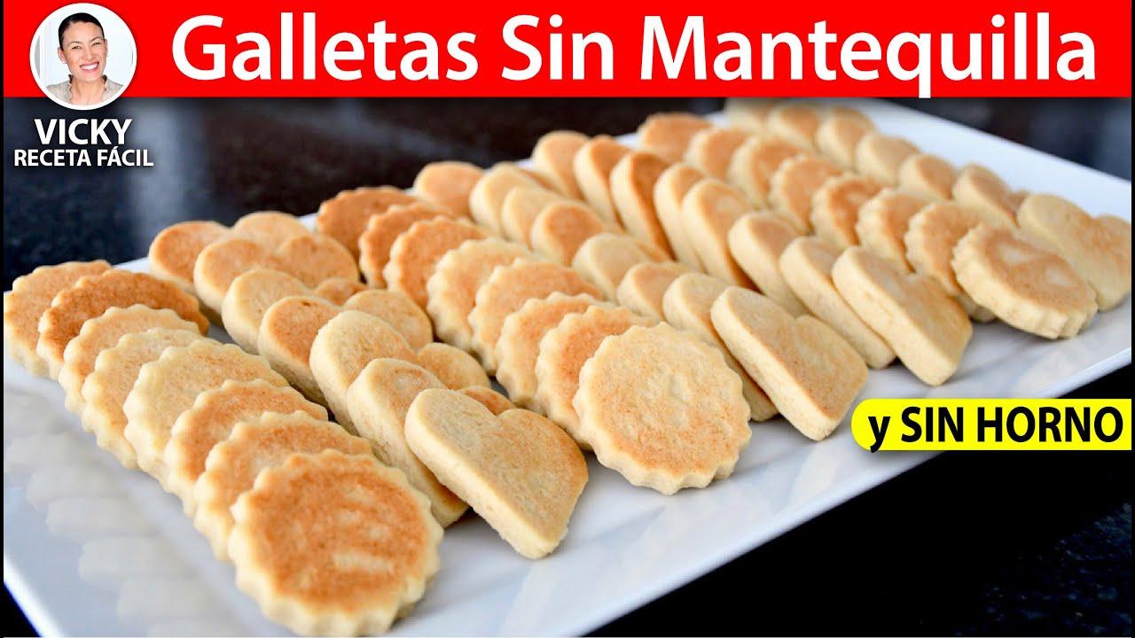GALLETAS SIN MANTEQUILLA SIN HORNO | Vicky Receta Facil