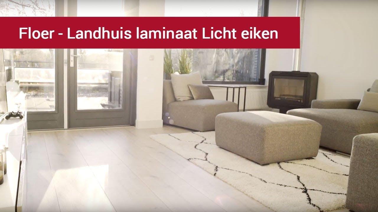 Floer landhuis laminaat licht eiken youtube