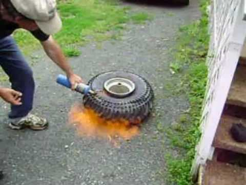 How To Seat An Atv Tire With Starting Fluid Explosive