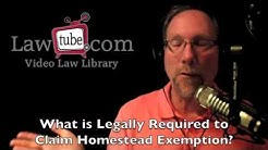 Legal requirements for homestead exemption in Florida