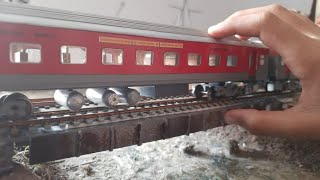 Cabin ride and Parallel race  Rajdhani Exp Indian Railway Model | Miniature World | Railway Crossing