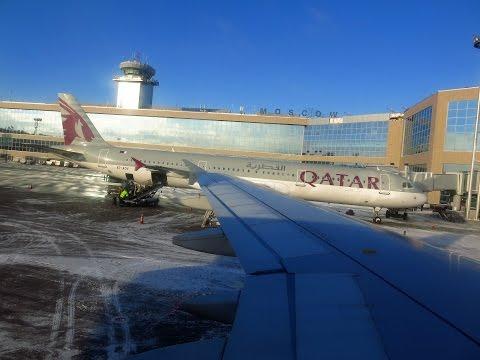 Посадка в Домодедово А320 Aegean Airlines