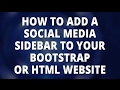 Bootstrap - Add a Social Media Share Sidebar To Your Bootstrap or HTML Website