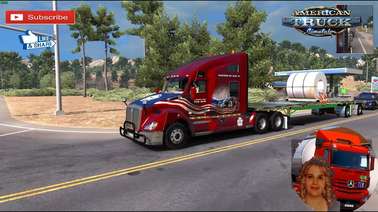 American Truck Simulator (1 34) Custom Wilson Flatbed Ownable Trailer 1 34  + DLC's & Mods