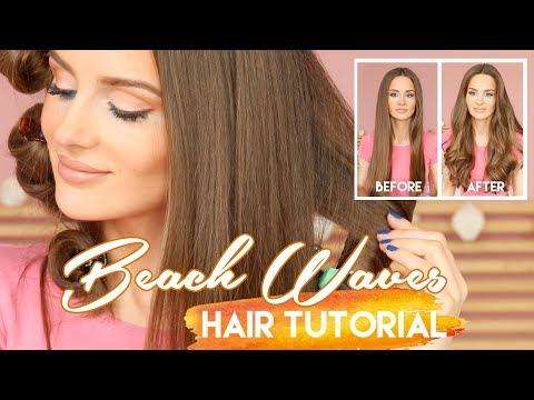 BEACH WAVES hair tutorial - How to: Easy summer hairstyle | PEACHY
