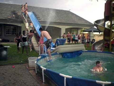 greatest redneck water slide - Diy Above Ground Pool Slide