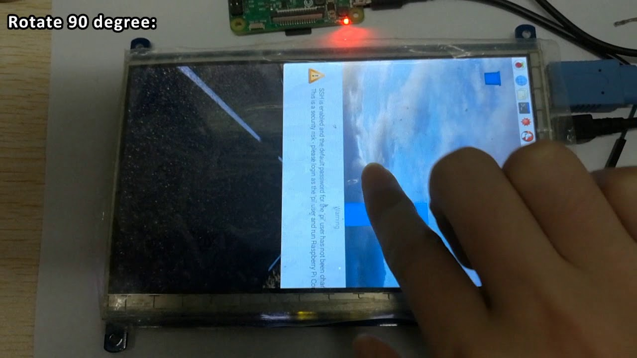 Touch Rotating for WS Capacitive LCD