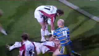 Leeds Vs Hull Kr Chev Walker Broken Leg 18/9/2009