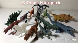 Mattel Jurassic World Fallen Kingdom Battle Damage 15 Dino Multipack set review