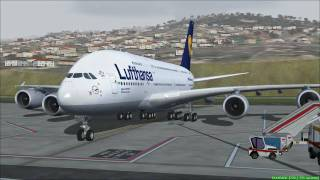 FS2004 - Landing Madeira-Portugal A380 Lufthansa.mp4