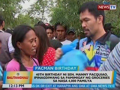 BT: 40th birthday ni Sen. Pacquiao, ipinagdiwang sa pamimigay ng groceries sa nasa 4,000 pamilya