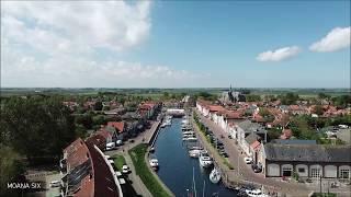 In een vogelvlucht over het historische stadje Brouwershaven