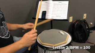 Alfred Drum Lessons Book 1, Lesson 2