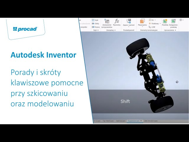 Porady i skróty klawiszowe pomocne przy szkicowaniu oraz modelowaniu w Autodesk Inventor