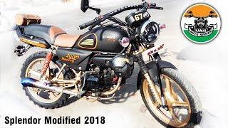 hero splendor modified like mini bullet | 2018 | Kamal auto nikhar & Graphics | Uttarakhand