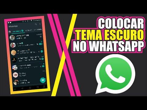 Como deixar o whatsapp preto  Como colocar o fundo preto do whatsapp  Tema escuro no whatsapp