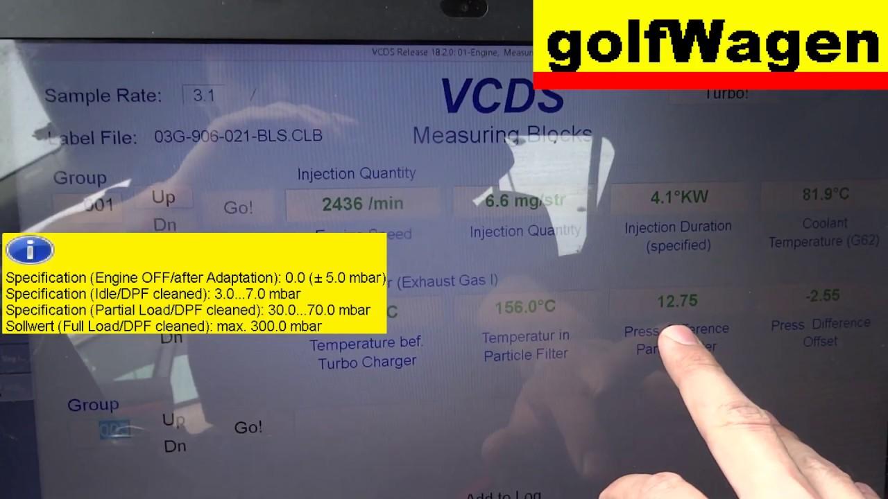VW Golf 5 check G450 differential pressure sensor DPF /exhaust pressure  sensor 076906051A/
