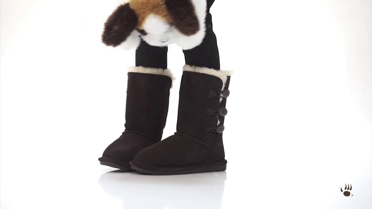 BEARPAW Kids' Lauren Boots - YouTube