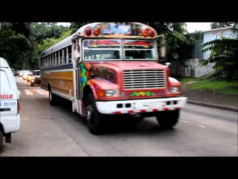Panama's Red Devil buses