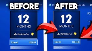 How To Get PLAYSTATION PLUS FOR FREE (JUNE 2018) *NEW*